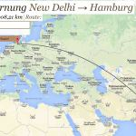 Entfernung von Hamburg nach Neu Dehli