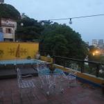 Dachterrasse am Abend